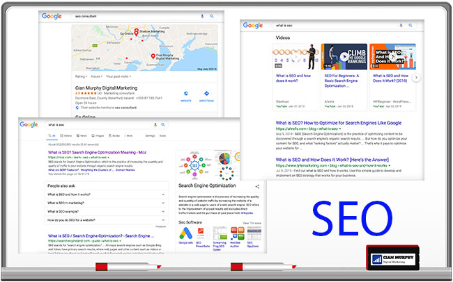 examples of knowledge graphs and entities, local seo and video seo