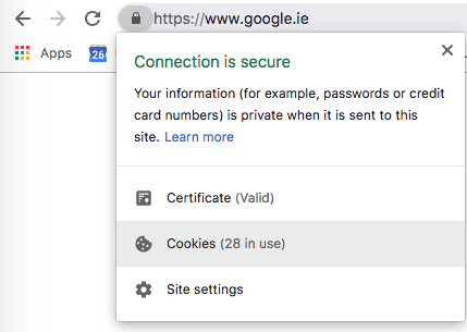 Google has over 28 cookies tracking at a time.