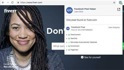 fiverr facebook pixel